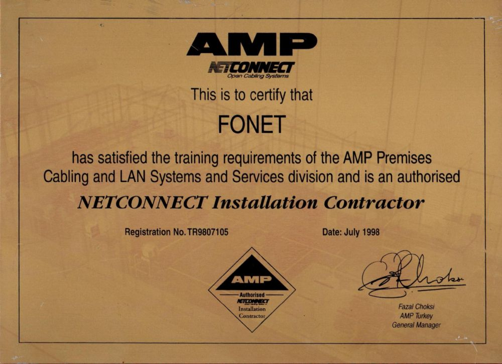 AMP NETCONNECT İNSTALLATİON CONTRACTOR